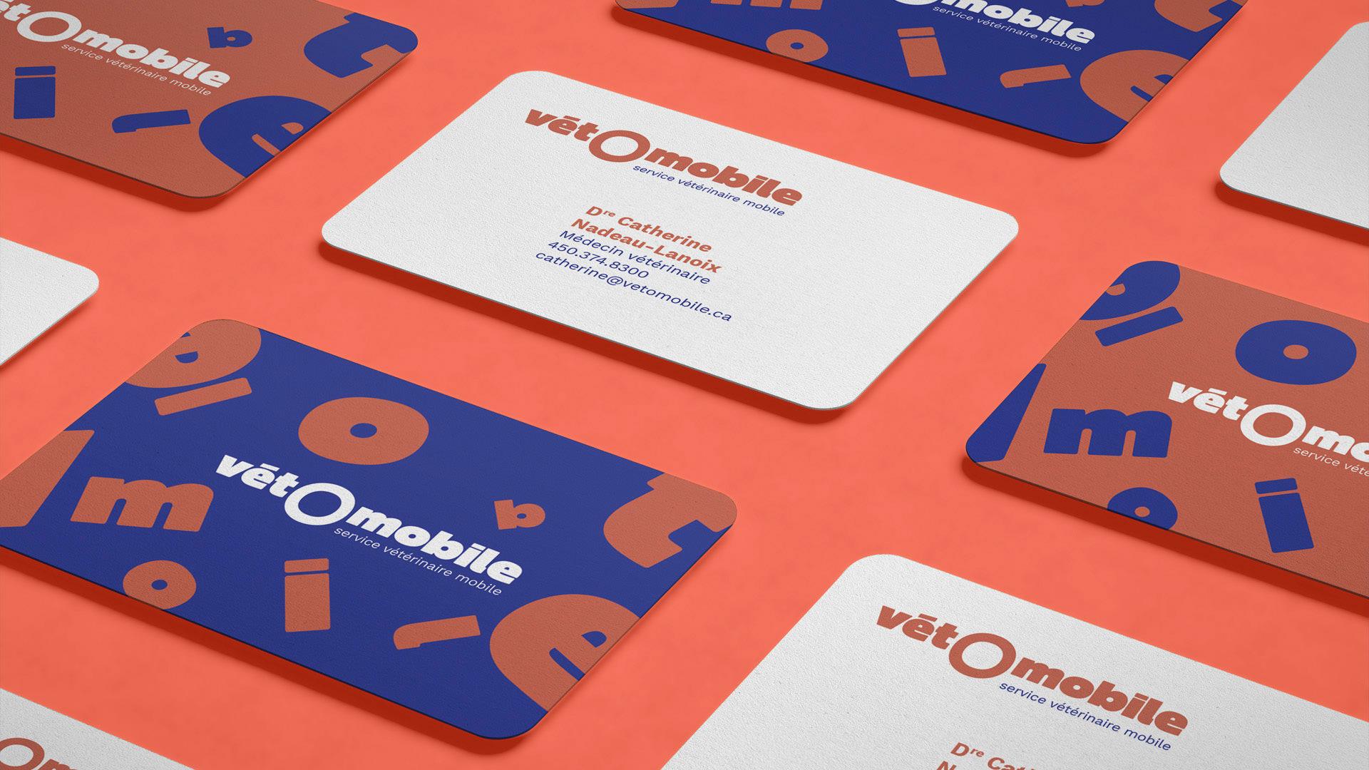 Design graphique de cartes d'affaire - Page Projets - Vétomobile