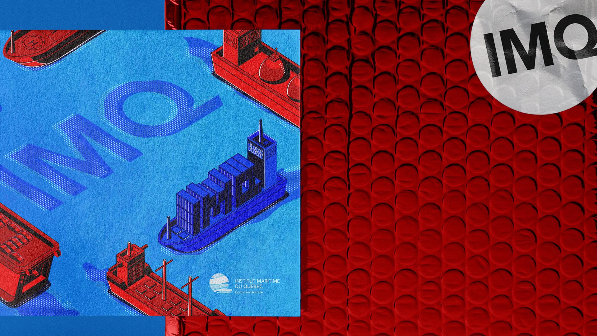 Emballage et carte postale des trousses pédagogiques de l'Institut maritime du Québec - Studio Paysage - Page Projets - IMQ